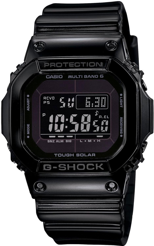 Casio G-SHOCK GW-M5610BB-1E / GW-M5610BB-1ER - мужские наручные часыCasio<br><br><br>Бренд: Casio<br>Модель: Casio GW-M5610BB-1E<br>Артикул: GW-M5610BB-1E<br>Вариант артикула: GW-M5610BB-1ER<br>Коллекция: G-SHOCK<br>Подколлекция: None<br>Страна: Япония<br>Пол: мужские<br>Тип механизма: кварцевые<br>Механизм: None<br>Количество камней: None<br>Автоподзавод: None<br>Источник энергии: от солнечной батареи<br>Срок службы элемента питания: None<br>Дисплей: цифры<br>Цифры: None<br>Водозащита: WR 200<br>Противоударные: есть<br>Материал корпуса: пластик<br>Материал браслета: пластик<br>Материал безеля: None<br>Стекло: минеральное<br>Антибликовое покрытие: None<br>Цвет корпуса: None<br>Цвет браслета: None<br>Цвет циферблата: None<br>Цвет безеля: None<br>Размеры: None<br>Диаметр: None<br>Диаметр корпуса: None<br>Толщина: None<br>Ширина ремешка: None<br>Вес: 51.7 г<br>Спорт-функции: секундомер, таймер обратного отсчета<br>Подсветка: дисплея<br>Вставка: None<br>Отображение даты: вечный календарь, число, день недели<br>Хронограф: None<br>Таймер: None<br>Термометр: None<br>Хронометр: None<br>GPS: None<br>Радиосинхронизация: None<br>Барометр: None<br>Скелетон: None<br>Дополнительная информация: коррекция времени по радиосигналу<br>Дополнительные функции: индикатор запаса хода, второй часовой пояс, будильник (количество установок: 5)