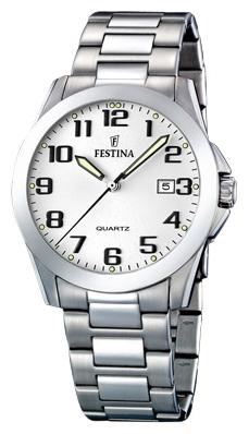 Festina F16376.7 - мужские наручные часы из коллекции ClassicFestina<br><br><br>Бренд: Festina<br>Модель: Festina F16376/7<br>Артикул: F16376.7<br>Вариант артикула: None<br>Коллекция: Classic<br>Подколлекция: None<br>Страна: Испания<br>Пол: мужские<br>Тип механизма: кварцевые<br>Механизм: M2115<br>Количество камней: None<br>Автоподзавод: None<br>Источник энергии: от батарейки<br>Срок службы элемента питания: None<br>Дисплей: стрелки<br>Цифры: арабские<br>Водозащита: WR 50<br>Противоударные: None<br>Материал корпуса: нерж. сталь<br>Материал браслета: нерж. сталь<br>Материал безеля: None<br>Стекло: минеральное<br>Антибликовое покрытие: None<br>Цвет корпуса: None<br>Цвет браслета: None<br>Цвет циферблата: None<br>Цвет безеля: None<br>Размеры: 40 мм<br>Диаметр: None<br>Диаметр корпуса: None<br>Толщина: None<br>Ширина ремешка: None<br>Вес: None<br>Спорт-функции: None<br>Подсветка: стрелок<br>Вставка: None<br>Отображение даты: число<br>Хронограф: None<br>Таймер: None<br>Термометр: None<br>Хронометр: None<br>GPS: None<br>Радиосинхронизация: None<br>Барометр: None<br>Скелетон: None<br>Дополнительная информация: None<br>Дополнительные функции: None