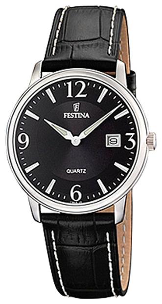 Festina F16517.6 - женские наручные часы из коллекции ClassicFestina<br><br><br>Бренд: Festina<br>Модель: Festina F16517/6<br>Артикул: F16517.6<br>Вариант артикула: None<br>Коллекция: Classic<br>Подколлекция: None<br>Страна: Испания<br>Пол: женские<br>Тип механизма: кварцевые<br>Механизм: M9T15<br>Количество камней: None<br>Автоподзавод: None<br>Источник энергии: от батарейки<br>Срок службы элемента питания: None<br>Дисплей: стрелки<br>Цифры: арабские<br>Водозащита: WR 50<br>Противоударные: None<br>Материал корпуса: нерж. сталь<br>Материал браслета: кожа<br>Материал безеля: None<br>Стекло: минеральное<br>Антибликовое покрытие: None<br>Цвет корпуса: None<br>Цвет браслета: None<br>Цвет циферблата: None<br>Цвет безеля: None<br>Размеры: 30 мм<br>Диаметр: None<br>Диаметр корпуса: None<br>Толщина: None<br>Ширина ремешка: None<br>Вес: None<br>Спорт-функции: None<br>Подсветка: стрелок<br>Вставка: None<br>Отображение даты: число<br>Хронограф: None<br>Таймер: None<br>Термометр: None<br>Хронометр: None<br>GPS: None<br>Радиосинхронизация: None<br>Барометр: None<br>Скелетон: None<br>Дополнительная информация: None<br>Дополнительные функции: None