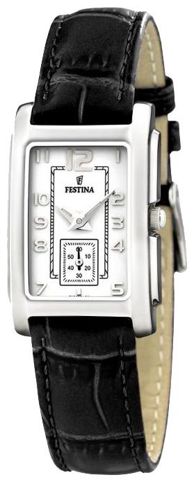 Festina F16198.1 - женские наручные часы из коллекции ClassicFestina<br><br><br>Бренд: Festina<br>Модель: Festina F16198/1<br>Артикул: F16198.1<br>Вариант артикула: None<br>Коллекция: Classic<br>Подколлекция: None<br>Страна: Испания<br>Пол: женские<br>Тип механизма: кварцевые<br>Механизм: None<br>Количество камней: None<br>Автоподзавод: None<br>Источник энергии: от батарейки<br>Срок службы элемента питания: None<br>Дисплей: стрелки<br>Цифры: арабские<br>Водозащита: WR 30<br>Противоударные: None<br>Материал корпуса: нерж. сталь<br>Материал браслета: кожа<br>Материал безеля: None<br>Стекло: минеральное<br>Антибликовое покрытие: None<br>Цвет корпуса: None<br>Цвет браслета: None<br>Цвет циферблата: None<br>Цвет безеля: None<br>Размеры: 24 мм<br>Диаметр: None<br>Диаметр корпуса: None<br>Толщина: None<br>Ширина ремешка: None<br>Вес: None<br>Спорт-функции: None<br>Подсветка: None<br>Вставка: None<br>Отображение даты: None<br>Хронограф: None<br>Таймер: None<br>Термометр: None<br>Хронометр: None<br>GPS: None<br>Радиосинхронизация: None<br>Барометр: None<br>Скелетон: None<br>Дополнительная информация: None<br>Дополнительные функции: None