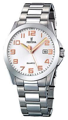Festina F16376.3 - мужские наручные часы из коллекции ClassicFestina<br><br><br>Бренд: Festina<br>Модель: Festina F16376/3<br>Артикул: F16376.3<br>Вариант артикула: None<br>Коллекция: Classic<br>Подколлекция: None<br>Страна: Испания<br>Пол: мужские<br>Тип механизма: кварцевые<br>Механизм: M2115<br>Количество камней: None<br>Автоподзавод: None<br>Источник энергии: от батарейки<br>Срок службы элемента питания: None<br>Дисплей: стрелки<br>Цифры: арабские<br>Водозащита: WR 50<br>Противоударные: None<br>Материал корпуса: нерж. сталь<br>Материал браслета: нерж. сталь<br>Материал безеля: None<br>Стекло: минеральное<br>Антибликовое покрытие: None<br>Цвет корпуса: None<br>Цвет браслета: None<br>Цвет циферблата: None<br>Цвет безеля: None<br>Размеры: 40 мм<br>Диаметр: None<br>Диаметр корпуса: None<br>Толщина: None<br>Ширина ремешка: None<br>Вес: None<br>Спорт-функции: None<br>Подсветка: стрелок<br>Вставка: None<br>Отображение даты: число<br>Хронограф: None<br>Таймер: None<br>Термометр: None<br>Хронометр: None<br>GPS: None<br>Радиосинхронизация: None<br>Барометр: None<br>Скелетон: None<br>Дополнительная информация: None<br>Дополнительные функции: None