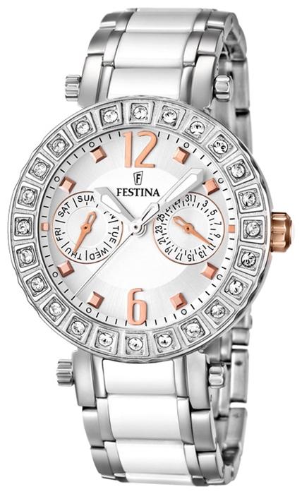 Festina F16587.2 - женские наручные часы из коллекции MultifunctionFestina<br><br><br>Бренд: Festina<br>Модель: Festina F16587/2<br>Артикул: F16587.2<br>Вариант артикула: None<br>Коллекция: Multifunction<br>Подколлекция: None<br>Страна: Испания<br>Пол: женские<br>Тип механизма: кварцевые<br>Механизм: M6P25<br>Количество камней: None<br>Автоподзавод: None<br>Источник энергии: от батарейки<br>Срок службы элемента питания: None<br>Дисплей: стрелки<br>Цифры: арабские<br>Водозащита: WR 50<br>Противоударные: None<br>Материал корпуса: нерж. сталь<br>Материал браслета: нерж. сталь + керамика<br>Материал безеля: None<br>Стекло: минеральное<br>Антибликовое покрытие: None<br>Цвет корпуса: None<br>Цвет браслета: None<br>Цвет циферблата: None<br>Цвет безеля: None<br>Размеры: 38x10.7 мм<br>Диаметр: None<br>Диаметр корпуса: None<br>Толщина: None<br>Ширина ремешка: None<br>Вес: None<br>Спорт-функции: None<br>Подсветка: стрелок<br>Вставка: None<br>Отображение даты: число, день недели<br>Хронограф: None<br>Таймер: None<br>Термометр: None<br>Хронометр: None<br>GPS: None<br>Радиосинхронизация: None<br>Барометр: None<br>Скелетон: None<br>Дополнительная информация: None<br>Дополнительные функции: None