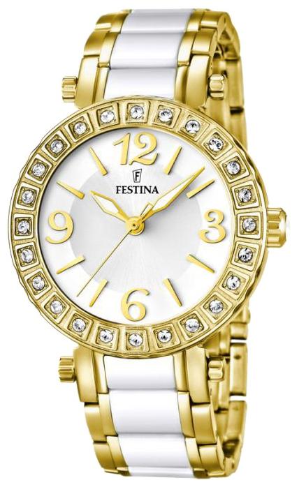 Festina F16644.1 - женские наручные часы из коллекции CrystalFestina<br><br><br>Бренд: Festina<br>Модель: Festina F16644/1<br>Артикул: F16644.1<br>Вариант артикула: None<br>Коллекция: Crystal<br>Подколлекция: None<br>Страна: Испания<br>Пол: женские<br>Тип механизма: кварцевые<br>Механизм: None<br>Количество камней: None<br>Автоподзавод: None<br>Источник энергии: от батарейки<br>Срок службы элемента питания: None<br>Дисплей: стрелки<br>Цифры: арабские<br>Водозащита: WR 50<br>Противоударные: None<br>Материал корпуса: нерж. сталь, полное покрытие корпуса<br>Материал браслета: нерж. сталь + керамика, частичное дополнительное покрытие<br>Материал безеля: None<br>Стекло: минеральное<br>Антибликовое покрытие: None<br>Цвет корпуса: None<br>Цвет браслета: None<br>Цвет циферблата: None<br>Цвет безеля: None<br>Размеры: 38 мм<br>Диаметр: None<br>Диаметр корпуса: None<br>Толщина: None<br>Ширина ремешка: None<br>Вес: None<br>Спорт-функции: None<br>Подсветка: стрелок<br>Вставка: None<br>Отображение даты: None<br>Хронограф: None<br>Таймер: None<br>Термометр: None<br>Хронометр: None<br>GPS: None<br>Радиосинхронизация: None<br>Барометр: None<br>Скелетон: None<br>Дополнительная информация: None<br>Дополнительные функции: None