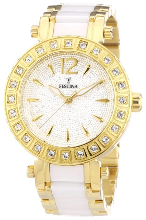 Festina F16644.3 - женские наручные часы из коллекции CrystalFestina<br><br><br>Бренд: Festina<br>Модель: Festina F16644/3<br>Артикул: F16644.3<br>Вариант артикула: None<br>Коллекция: Crystal<br>Подколлекция: None<br>Страна: Испания<br>Пол: женские<br>Тип механизма: кварцевые<br>Механизм: None<br>Количество камней: None<br>Автоподзавод: None<br>Источник энергии: от батарейки<br>Срок службы элемента питания: None<br>Дисплей: стрелки<br>Цифры: арабские<br>Водозащита: WR 50<br>Противоударные: None<br>Материал корпуса: нерж. сталь, полное покрытие корпуса<br>Материал браслета: нерж. сталь + керамика, частичное дополнительное покрытие<br>Материал безеля: None<br>Стекло: минеральное<br>Антибликовое покрытие: None<br>Цвет корпуса: None<br>Цвет браслета: None<br>Цвет циферблата: None<br>Цвет безеля: None<br>Размеры: 38 мм<br>Диаметр: None<br>Диаметр корпуса: None<br>Толщина: None<br>Ширина ремешка: None<br>Вес: None<br>Спорт-функции: None<br>Подсветка: стрелок<br>Вставка: None<br>Отображение даты: None<br>Хронограф: None<br>Таймер: None<br>Термометр: None<br>Хронометр: None<br>GPS: None<br>Радиосинхронизация: None<br>Барометр: None<br>Скелетон: None<br>Дополнительная информация: None<br>Дополнительные функции: None