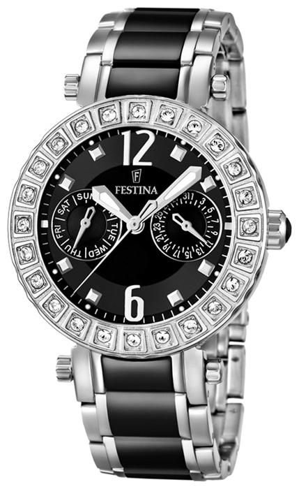 Festina F16587.3 - женские наручные часы из коллекции MultifunctionFestina<br><br><br>Бренд: Festina<br>Модель: Festina F16587/3<br>Артикул: F16587.3<br>Вариант артикула: None<br>Коллекция: Multifunction<br>Подколлекция: None<br>Страна: Испания<br>Пол: женские<br>Тип механизма: кварцевые<br>Механизм: M6P25<br>Количество камней: None<br>Автоподзавод: None<br>Источник энергии: от батарейки<br>Срок службы элемента питания: None<br>Дисплей: стрелки<br>Цифры: арабские<br>Водозащита: WR 50<br>Противоударные: None<br>Материал корпуса: нерж. сталь<br>Материал браслета: нерж. сталь + керамика<br>Материал безеля: None<br>Стекло: минеральное<br>Антибликовое покрытие: None<br>Цвет корпуса: None<br>Цвет браслета: None<br>Цвет циферблата: None<br>Цвет безеля: None<br>Размеры: 38x10.7 мм<br>Диаметр: None<br>Диаметр корпуса: None<br>Толщина: None<br>Ширина ремешка: None<br>Вес: None<br>Спорт-функции: None<br>Подсветка: стрелок<br>Вставка: None<br>Отображение даты: число, день недели<br>Хронограф: None<br>Таймер: None<br>Термометр: None<br>Хронометр: None<br>GPS: None<br>Радиосинхронизация: None<br>Барометр: None<br>Скелетон: None<br>Дополнительная информация: None<br>Дополнительные функции: None