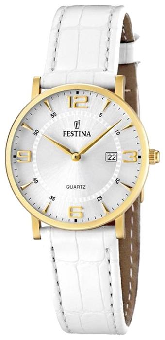 Festina F16479.3 - женские наручные часы из коллекции ClassicFestina<br><br><br>Бренд: Festina<br>Модель: Festina F16479/3<br>Артикул: F16479.3<br>Вариант артикула: None<br>Коллекция: Classic<br>Подколлекция: None<br>Страна: Испания<br>Пол: женские<br>Тип механизма: кварцевые<br>Механизм: M9T15<br>Количество камней: None<br>Автоподзавод: None<br>Источник энергии: от батарейки<br>Срок службы элемента питания: None<br>Дисплей: стрелки<br>Цифры: арабские<br>Водозащита: WR 30<br>Противоударные: None<br>Материал корпуса: нерж. сталь, PVD покрытие: позолота (полное)<br>Материал браслета: кожа<br>Материал безеля: None<br>Стекло: минеральное<br>Антибликовое покрытие: None<br>Цвет корпуса: None<br>Цвет браслета: None<br>Цвет циферблата: None<br>Цвет безеля: None<br>Размеры: 30.5x6 мм<br>Диаметр: None<br>Диаметр корпуса: None<br>Толщина: None<br>Ширина ремешка: None<br>Вес: None<br>Спорт-функции: None<br>Подсветка: None<br>Вставка: None<br>Отображение даты: число<br>Хронограф: None<br>Таймер: None<br>Термометр: None<br>Хронометр: None<br>GPS: None<br>Радиосинхронизация: None<br>Барометр: None<br>Скелетон: None<br>Дополнительная информация: None<br>Дополнительные функции: None