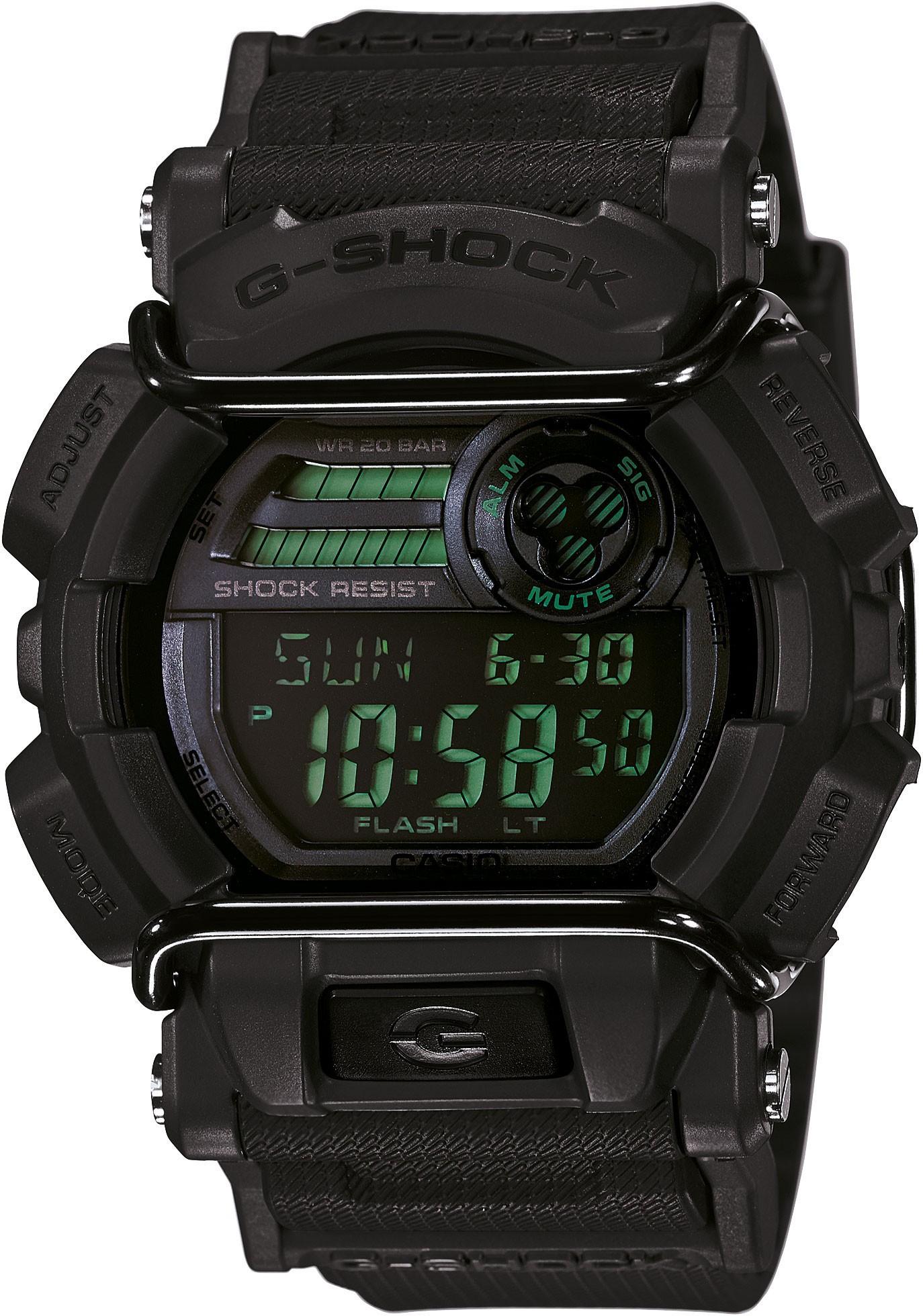 Casio G-SHOCK GD-400MB-1E / GD-400MB-1ER - мужские наручные часыCasio<br><br><br>Бренд: Casio<br>Модель: Casio GD-400MB-1E<br>Артикул: GD-400MB-1E<br>Вариант артикула: GD-400MB-1ER<br>Коллекция: G-SHOCK<br>Подколлекция: None<br>Страна: Япония<br>Пол: мужские<br>Тип механизма: кварцевые<br>Механизм: None<br>Количество камней: None<br>Автоподзавод: None<br>Источник энергии: от батарейки<br>Срок службы элемента питания: None<br>Дисплей: цифры<br>Цифры: None<br>Водозащита: WR 200<br>Противоударные: есть<br>Материал корпуса: пластик<br>Материал браслета: пластик<br>Материал безеля: None<br>Стекло: минеральное<br>Антибликовое покрытие: None<br>Цвет корпуса: None<br>Цвет браслета: None<br>Цвет циферблата: None<br>Цвет безеля: None<br>Размеры: 49.7x55x16.6 мм<br>Диаметр: None<br>Диаметр корпуса: None<br>Толщина: None<br>Ширина ремешка: None<br>Вес: 78 г<br>Спорт-функции: секундомер, таймер обратного отсчета<br>Подсветка: None<br>Вставка: None<br>Отображение даты: вечный календарь, число, месяц, день недели<br>Хронограф: None<br>Таймер: None<br>Термометр: None<br>Хронометр: None<br>GPS: None<br>Радиосинхронизация: None<br>Барометр: None<br>Скелетон: None<br>Дополнительная информация: автоподсветка, ежечасный сигнал, повтор сигнала будильника, функция Flash alert, элемент питания CR2025, срок службы батарейки 7 лет<br>Дополнительные функции: второй часовой пояс, будильник (количество установок: 5)