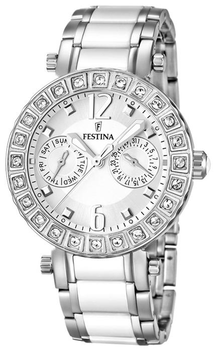 Festina F16587.1 - женские наручные часы из коллекции MultifunctionFestina<br><br><br>Бренд: Festina<br>Модель: Festina F16587/1<br>Артикул: F16587.1<br>Вариант артикула: None<br>Коллекция: Multifunction<br>Подколлекция: None<br>Страна: Испания<br>Пол: женские<br>Тип механизма: кварцевые<br>Механизм: M6P25<br>Количество камней: None<br>Автоподзавод: None<br>Источник энергии: от батарейки<br>Срок службы элемента питания: None<br>Дисплей: стрелки<br>Цифры: арабские<br>Водозащита: WR 50<br>Противоударные: None<br>Материал корпуса: нерж. сталь<br>Материал браслета: нерж. сталь + керамика<br>Материал безеля: None<br>Стекло: минеральное<br>Антибликовое покрытие: None<br>Цвет корпуса: None<br>Цвет браслета: None<br>Цвет циферблата: None<br>Цвет безеля: None<br>Размеры: 38x10.7 мм<br>Диаметр: None<br>Диаметр корпуса: None<br>Толщина: None<br>Ширина ремешка: None<br>Вес: 82 г<br>Спорт-функции: None<br>Подсветка: стрелок<br>Вставка: None<br>Отображение даты: число, день недели<br>Хронограф: None<br>Таймер: None<br>Термометр: None<br>Хронометр: None<br>GPS: None<br>Радиосинхронизация: None<br>Барометр: None<br>Скелетон: None<br>Дополнительная информация: None<br>Дополнительные функции: None