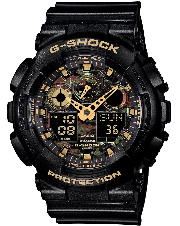 Casio G-SHOCK GA-100CF-1A9 / GA-100CF-1A9ER - мужские наручные часыCasio<br><br><br>Бренд: Casio<br>Модель: Casio GA-100CF-1A9<br>Артикул: GA-100CF-1A9<br>Вариант артикула: GA-100CF-1A9ER<br>Коллекция: G-SHOCK<br>Подколлекция: None<br>Страна: Япония<br>Пол: мужские<br>Тип механизма: кварцевые<br>Механизм: None<br>Количество камней: None<br>Автоподзавод: None<br>Источник энергии: от батарейки<br>Срок службы элемента питания: None<br>Дисплей: стрелки + цифры<br>Цифры: отсутствуют<br>Водозащита: WR 200<br>Противоударные: есть<br>Материал корпуса: пластик<br>Материал браслета: пластик<br>Материал безеля: None<br>Стекло: минеральное<br>Антибликовое покрытие: None<br>Цвет корпуса: None<br>Цвет браслета: None<br>Цвет циферблата: None<br>Цвет безеля: None<br>Размеры: 51.2x55x16.9 мм<br>Диаметр: None<br>Диаметр корпуса: None<br>Толщина: None<br>Ширина ремешка: None<br>Вес: 71 г<br>Спорт-функции: секундомер, таймер обратного отсчета<br>Подсветка: дисплея<br>Вставка: None<br>Отображение даты: вечный календарь, число, месяц, день недели<br>Хронограф: None<br>Таймер: None<br>Термометр: None<br>Хронометр: None<br>GPS: None<br>Радиосинхронизация: None<br>Барометр: None<br>Скелетон: None<br>Дополнительная информация: автоподсветка, повтор сигнала будильника, ежечасный сигнал, защитная функция антимагнит, элемент питания CR1220, срок службы батарейки 2 года<br>Дополнительные функции: второй часовой пояс, будильник (количество установок: 5)