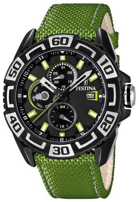 Festina F16584.3 - мужские наручные часы из коллекции MultifunctionFestina<br><br><br>Бренд: Festina<br>Модель: Festina F16584/3<br>Артикул: F16584.3<br>Вариант артикула: None<br>Коллекция: Multifunction<br>Подколлекция: None<br>Страна: Испания<br>Пол: мужские<br>Тип механизма: кварцевые<br>Механизм: None<br>Количество камней: None<br>Автоподзавод: None<br>Источник энергии: от батарейки<br>Срок службы элемента питания: None<br>Дисплей: стрелки<br>Цифры: арабские<br>Водозащита: WR 100<br>Противоударные: None<br>Материал корпуса: нерж. сталь<br>Материал браслета: текстиль + кожа<br>Материал безеля: None<br>Стекло: минеральное<br>Антибликовое покрытие: None<br>Цвет корпуса: None<br>Цвет браслета: None<br>Цвет циферблата: None<br>Цвет безеля: None<br>Размеры: 47x13 мм<br>Диаметр: None<br>Диаметр корпуса: None<br>Толщина: None<br>Ширина ремешка: None<br>Вес: None<br>Спорт-функции: None<br>Подсветка: None<br>Вставка: None<br>Отображение даты: число, месяц, день недели<br>Хронограф: None<br>Таймер: None<br>Термометр: None<br>Хронометр: None<br>GPS: None<br>Радиосинхронизация: None<br>Барометр: None<br>Скелетон: None<br>Дополнительная информация: None<br>Дополнительные функции: второй часовой пояс