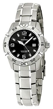 Festina F16172.7 - женские наручные часы из коллекции SportFestina<br><br><br>Бренд: Festina<br>Модель: Festina F16172/7<br>Артикул: F16172.7<br>Вариант артикула: None<br>Коллекция: Sport<br>Подколлекция: None<br>Страна: Испания<br>Пол: женские<br>Тип механизма: кварцевые<br>Механизм: None<br>Количество камней: None<br>Автоподзавод: None<br>Источник энергии: от батарейки<br>Срок службы элемента питания: None<br>Дисплей: стрелки<br>Цифры: арабские<br>Водозащита: WR 100<br>Противоударные: None<br>Материал корпуса: нерж. сталь<br>Материал браслета: нерж. сталь<br>Материал безеля: None<br>Стекло: минеральное<br>Антибликовое покрытие: None<br>Цвет корпуса: None<br>Цвет браслета: None<br>Цвет циферблата: None<br>Цвет безеля: None<br>Размеры: 30 мм<br>Диаметр: None<br>Диаметр корпуса: None<br>Толщина: None<br>Ширина ремешка: None<br>Вес: None<br>Спорт-функции: None<br>Подсветка: стрелок<br>Вставка: None<br>Отображение даты: число<br>Хронограф: None<br>Таймер: None<br>Термометр: None<br>Хронометр: None<br>GPS: None<br>Радиосинхронизация: None<br>Барометр: None<br>Скелетон: None<br>Дополнительная информация: None<br>Дополнительные функции: None