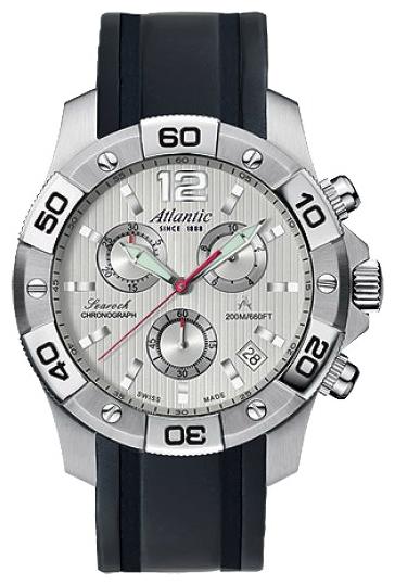 Atlantic 87471.41.25S - мужские наручные часы из коллекции SearockAtlantic<br><br><br>Бренд: Atlantic<br>Модель: Atlantic 87471.41.25S<br>Артикул: 87471.41.25S<br>Вариант артикула: None<br>Коллекция: Searock<br>Подколлекция: None<br>Страна: Швейцария<br>Пол: мужские<br>Тип механизма: кварцевые<br>Механизм: ETA G10.211<br>Количество камней: None<br>Автоподзавод: None<br>Источник энергии: от батарейки<br>Срок службы элемента питания: None<br>Дисплей: стрелки<br>Цифры: арабские<br>Водозащита: WR 200<br>Противоударные: None<br>Материал корпуса: нерж. сталь<br>Материал браслета: каучук<br>Материал безеля: None<br>Стекло: сапфировое<br>Антибликовое покрытие: None<br>Цвет корпуса: None<br>Цвет браслета: None<br>Цвет циферблата: None<br>Цвет безеля: None<br>Размеры: 45 мм<br>Диаметр: None<br>Диаметр корпуса: None<br>Толщина: None<br>Ширина ремешка: None<br>Вес: None<br>Спорт-функции: секундомер<br>Подсветка: стрелок<br>Вставка: None<br>Отображение даты: число<br>Хронограф: есть<br>Таймер: None<br>Термометр: None<br>Хронометр: None<br>GPS: None<br>Радиосинхронизация: None<br>Барометр: None<br>Скелетон: None<br>Дополнительная информация: None<br>Дополнительные функции: None