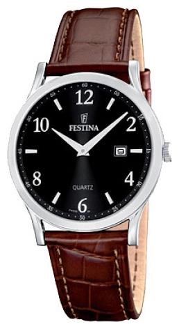 Festina F16521.6 - женские наручные часы из коллекции ClassicFestina<br><br><br>Бренд: Festina<br>Модель: Festina F16521/6<br>Артикул: F16521.6<br>Вариант артикула: None<br>Коллекция: Classic<br>Подколлекция: None<br>Страна: Испания<br>Пол: женские<br>Тип механизма: кварцевые<br>Механизм: None<br>Количество камней: None<br>Автоподзавод: None<br>Источник энергии: от батарейки<br>Срок службы элемента питания: None<br>Дисплей: стрелки<br>Цифры: арабские<br>Водозащита: WR 50<br>Противоударные: None<br>Материал корпуса: нерж. сталь<br>Материал браслета: кожа (не указан)<br>Материал безеля: None<br>Стекло: минеральное<br>Антибликовое покрытие: None<br>Цвет корпуса: None<br>Цвет браслета: None<br>Цвет циферблата: None<br>Цвет безеля: None<br>Размеры: 29.5 мм<br>Диаметр: None<br>Диаметр корпуса: None<br>Толщина: None<br>Ширина ремешка: None<br>Вес: None<br>Спорт-функции: None<br>Подсветка: стрелок<br>Вставка: None<br>Отображение даты: число<br>Хронограф: None<br>Таймер: None<br>Термометр: None<br>Хронометр: None<br>GPS: None<br>Радиосинхронизация: None<br>Барометр: None<br>Скелетон: None<br>Дополнительная информация: None<br>Дополнительные функции: None