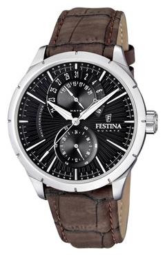 Festina F16573.4 - мужские наручные часы из коллекции RetroFestina<br><br><br>Бренд: Festina<br>Модель: Festina F16573/4<br>Артикул: F16573.4<br>Вариант артикула: None<br>Коллекция: Retro<br>Подколлекция: None<br>Страна: Испания<br>Пол: мужские<br>Тип механизма: кварцевые<br>Механизм: None<br>Количество камней: None<br>Автоподзавод: None<br>Источник энергии: от батарейки<br>Срок службы элемента питания: None<br>Дисплей: стрелки<br>Цифры: отсутствуют<br>Водозащита: WR 50<br>Противоударные: None<br>Материал корпуса: нерж. сталь<br>Материал браслета: кожа (не указан)<br>Материал безеля: None<br>Стекло: минеральное<br>Антибликовое покрытие: None<br>Цвет корпуса: None<br>Цвет браслета: None<br>Цвет циферблата: None<br>Цвет безеля: None<br>Размеры: 46x46x12 мм<br>Диаметр: None<br>Диаметр корпуса: None<br>Толщина: None<br>Ширина ремешка: None<br>Вес: None<br>Спорт-функции: None<br>Подсветка: стрелок<br>Вставка: None<br>Отображение даты: число<br>Хронограф: None<br>Таймер: None<br>Термометр: None<br>Хронометр: None<br>GPS: None<br>Радиосинхронизация: None<br>Барометр: None<br>Скелетон: None<br>Дополнительная информация: None<br>Дополнительные функции: None