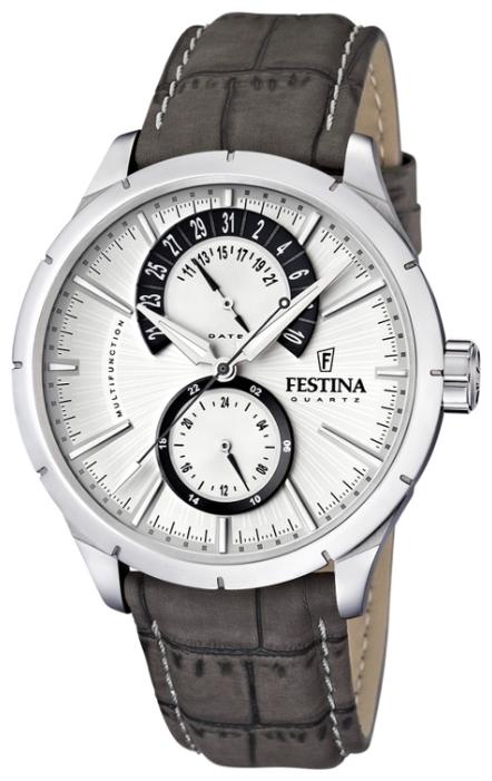 Festina F16573.2 - мужские наручные часы из коллекции RetroFestina<br><br><br>Бренд: Festina<br>Модель: Festina F16573/2<br>Артикул: F16573.2<br>Вариант артикула: None<br>Коллекция: Retro<br>Подколлекция: None<br>Страна: Испания<br>Пол: мужские<br>Тип механизма: кварцевые<br>Механизм: None<br>Количество камней: None<br>Автоподзавод: None<br>Источник энергии: от батарейки<br>Срок службы элемента питания: None<br>Дисплей: стрелки<br>Цифры: отсутствуют<br>Водозащита: WR 50<br>Противоударные: None<br>Материал корпуса: нерж. сталь<br>Материал браслета: кожа (не указан)<br>Материал безеля: None<br>Стекло: минеральное<br>Антибликовое покрытие: None<br>Цвет корпуса: None<br>Цвет браслета: None<br>Цвет циферблата: None<br>Цвет безеля: None<br>Размеры: 46x46x12 мм<br>Диаметр: None<br>Диаметр корпуса: None<br>Толщина: None<br>Ширина ремешка: None<br>Вес: None<br>Спорт-функции: None<br>Подсветка: стрелок<br>Вставка: None<br>Отображение даты: число<br>Хронограф: None<br>Таймер: None<br>Термометр: None<br>Хронометр: None<br>GPS: None<br>Радиосинхронизация: None<br>Барометр: None<br>Скелетон: None<br>Дополнительная информация: None<br>Дополнительные функции: None