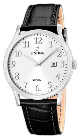 Festina F16520.2 - мужские наручные часы из коллекции ClassicFestina<br><br><br>Бренд: Festina<br>Модель: Festina F16520/2<br>Артикул: F16520.2<br>Вариант артикула: None<br>Коллекция: Classic<br>Подколлекция: None<br>Страна: Испания<br>Пол: мужские<br>Тип механизма: кварцевые<br>Механизм: None<br>Количество камней: None<br>Автоподзавод: None<br>Источник энергии: от батарейки<br>Срок службы элемента питания: None<br>Дисплей: стрелки<br>Цифры: арабские<br>Водозащита: WR 50<br>Противоударные: None<br>Материал корпуса: нерж. сталь<br>Материал браслета: кожа<br>Материал безеля: None<br>Стекло: минеральное<br>Антибликовое покрытие: None<br>Цвет корпуса: None<br>Цвет браслета: None<br>Цвет циферблата: None<br>Цвет безеля: None<br>Размеры: 40 мм<br>Диаметр: None<br>Диаметр корпуса: None<br>Толщина: None<br>Ширина ремешка: None<br>Вес: None<br>Спорт-функции: None<br>Подсветка: None<br>Вставка: None<br>Отображение даты: число<br>Хронограф: None<br>Таймер: None<br>Термометр: None<br>Хронометр: None<br>GPS: None<br>Радиосинхронизация: None<br>Барометр: None<br>Скелетон: None<br>Дополнительная информация: None<br>Дополнительные функции: None