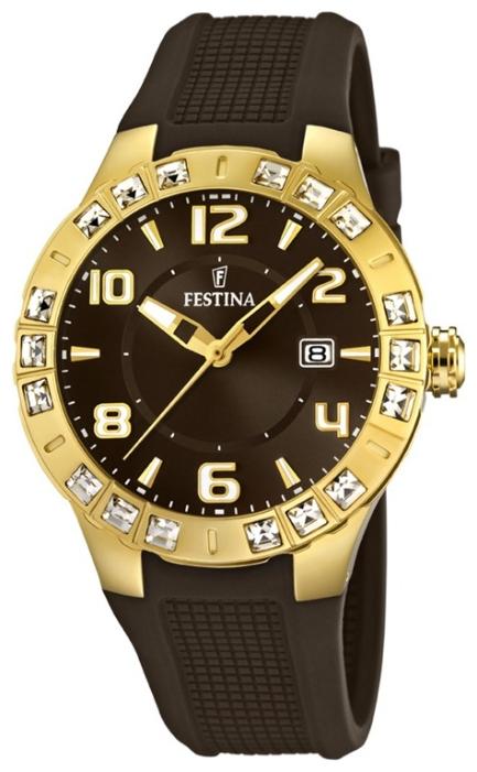Festina F16582.3 - женские наручные часы из коллекции Golden DreamFestina<br><br><br>Бренд: Festina<br>Модель: Festina F16582/3<br>Артикул: F16582.3<br>Вариант артикула: None<br>Коллекция: Golden Dream<br>Подколлекция: None<br>Страна: Испания<br>Пол: женские<br>Тип механизма: кварцевые<br>Механизм: None<br>Количество камней: None<br>Автоподзавод: None<br>Источник энергии: от батарейки<br>Срок службы элемента питания: None<br>Дисплей: стрелки<br>Цифры: арабские<br>Водозащита: WR 50<br>Противоударные: None<br>Материал корпуса: нерж. сталь, PVD покрытие: позолота (полное)<br>Материал браслета: каучук<br>Материал безеля: None<br>Стекло: минеральное<br>Антибликовое покрытие: None<br>Цвет корпуса: None<br>Цвет браслета: None<br>Цвет циферблата: None<br>Цвет безеля: None<br>Размеры: 42x9.5 мм<br>Диаметр: None<br>Диаметр корпуса: None<br>Толщина: None<br>Ширина ремешка: None<br>Вес: 78 г<br>Спорт-функции: None<br>Подсветка: стрелок<br>Вставка: циркон<br>Отображение даты: число<br>Хронограф: None<br>Таймер: None<br>Термометр: None<br>Хронометр: None<br>GPS: None<br>Радиосинхронизация: None<br>Барометр: None<br>Скелетон: None<br>Дополнительная информация: None<br>Дополнительные функции: None