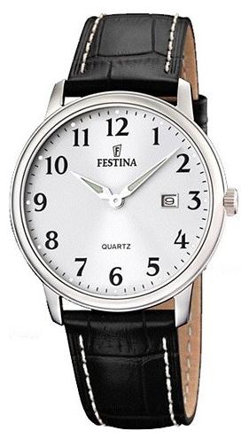 Festina F16516.1 - мужские наручные часы из коллекции ClassicFestina<br><br><br>Бренд: Festina<br>Модель: Festina F16516/1<br>Артикул: F16516.1<br>Вариант артикула: None<br>Коллекция: Classic<br>Подколлекция: None<br>Страна: Испания<br>Пол: мужские<br>Тип механизма: кварцевые<br>Механизм: None<br>Количество камней: None<br>Автоподзавод: None<br>Источник энергии: от батарейки<br>Срок службы элемента питания: None<br>Дисплей: стрелки<br>Цифры: арабские<br>Водозащита: WR 50<br>Противоударные: None<br>Материал корпуса: нерж. сталь<br>Материал браслета: кожа<br>Материал безеля: None<br>Стекло: минеральное<br>Антибликовое покрытие: None<br>Цвет корпуса: None<br>Цвет браслета: None<br>Цвет циферблата: None<br>Цвет безеля: None<br>Размеры: 40.5x40.5 мм<br>Диаметр: None<br>Диаметр корпуса: None<br>Толщина: None<br>Ширина ремешка: None<br>Вес: None<br>Спорт-функции: None<br>Подсветка: стрелок<br>Вставка: None<br>Отображение даты: число<br>Хронограф: None<br>Таймер: None<br>Термометр: None<br>Хронометр: None<br>GPS: None<br>Радиосинхронизация: None<br>Барометр: None<br>Скелетон: None<br>Дополнительная информация: None<br>Дополнительные функции: None