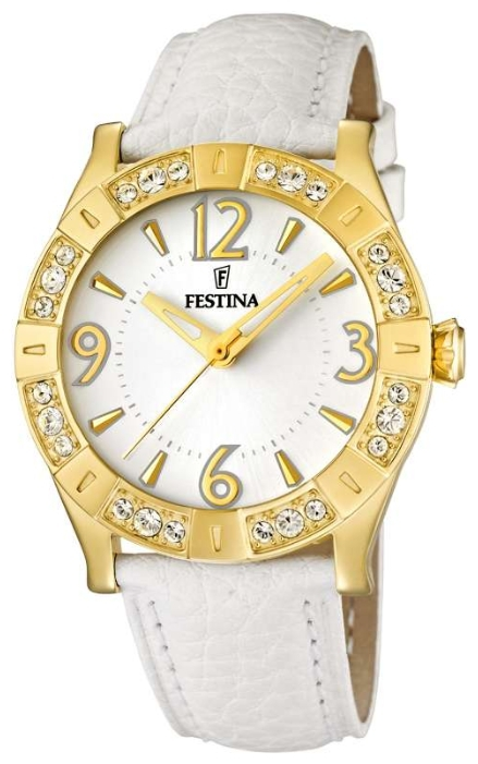 Festina F16580.1 - женские наручные часы из коллекции Golden DreamFestina<br><br><br>Бренд: Festina<br>Модель: Festina F16580/1<br>Артикул: F16580.1<br>Вариант артикула: None<br>Коллекция: Golden Dream<br>Подколлекция: None<br>Страна: Испания<br>Пол: женские<br>Тип механизма: кварцевые<br>Механизм: None<br>Количество камней: None<br>Автоподзавод: None<br>Источник энергии: от батарейки<br>Срок службы элемента питания: None<br>Дисплей: стрелки<br>Цифры: арабские<br>Водозащита: WR 50<br>Противоударные: None<br>Материал корпуса: нерж. сталь, PVD покрытие: позолота (полное)<br>Материал браслета: кожа<br>Материал безеля: None<br>Стекло: минеральное<br>Антибликовое покрытие: None<br>Цвет корпуса: None<br>Цвет браслета: None<br>Цвет циферблата: None<br>Цвет безеля: None<br>Размеры: 38x38 мм<br>Диаметр: None<br>Диаметр корпуса: None<br>Толщина: None<br>Ширина ремешка: None<br>Вес: None<br>Спорт-функции: None<br>Подсветка: None<br>Вставка: циркон<br>Отображение даты: None<br>Хронограф: None<br>Таймер: None<br>Термометр: None<br>Хронометр: None<br>GPS: None<br>Радиосинхронизация: None<br>Барометр: None<br>Скелетон: None<br>Дополнительная информация: None<br>Дополнительные функции: None