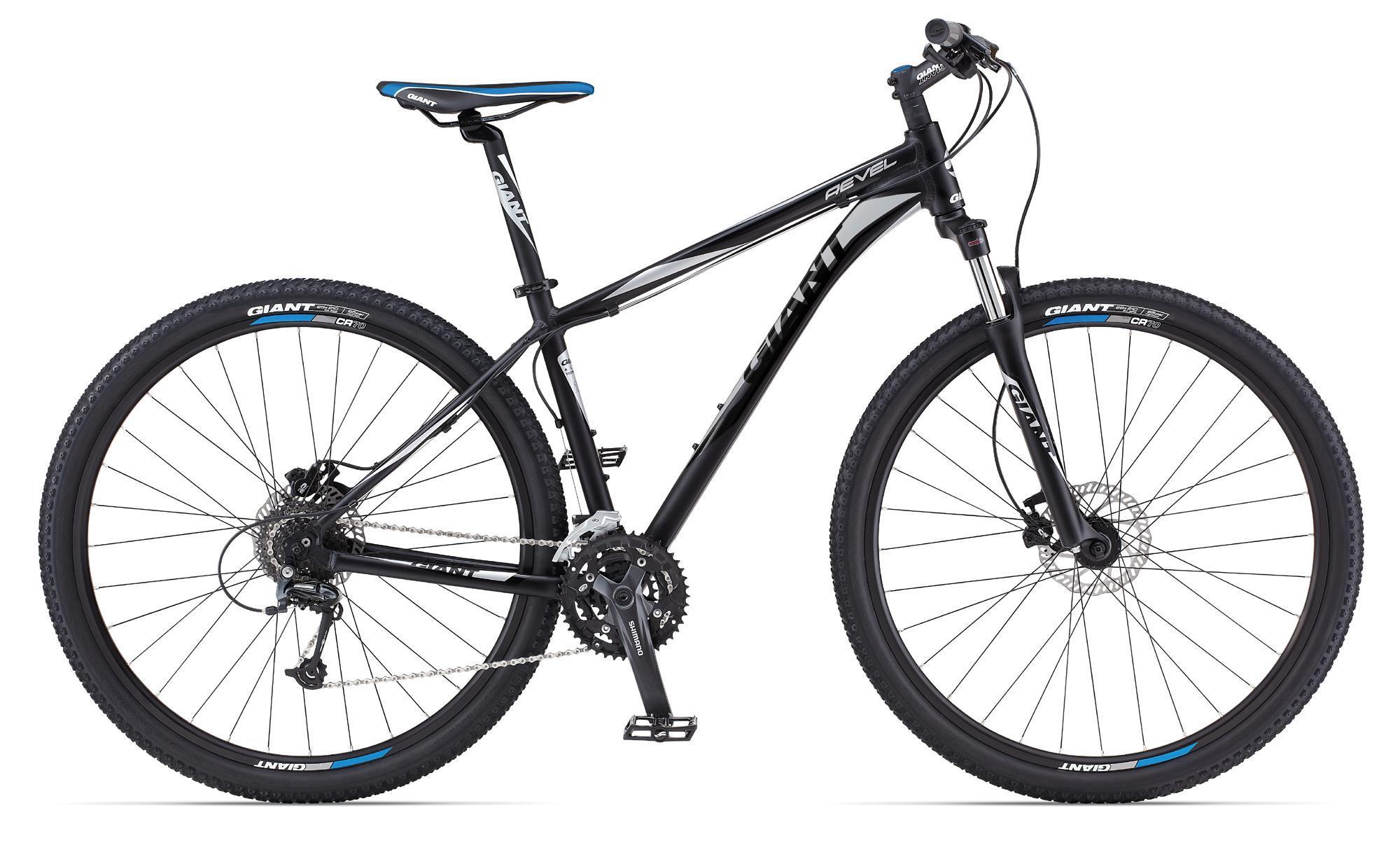 Giant Revel 29er 0-v2 (2013)Горные<br>Revel 29er 0-v2 - спортивный горный велосипед хардтейл с 29 колесами, дисковыми гидравлическими тормозами и сбалансированной навеской. Качественно новые ощущения от езды!<br><br>пользуйтесь преимуществами горного и дорожного велосипеда &gt; с колесами диаметром 29 вы можете ездить так же быстро, как на дорожном велосипеде, но при этом вам на 100% доступно бездорожье,<br>великолепное торможение в любую погоду &gt; дисковые гидравлические тормоза не подведут вас на спусках и при длительном торможении - в любую погоду и любое время года,<br>переключайте скорости легко &gt; задний переключатель профессионального уровня Shimano Deore и 27 скоростных режимов в вашем распоряжении!<br>качественные оригинальные компоненты от Giant &gt; покрышки, седло, ручки руля - Giant занимается не только велосипедами, но и аксессуарами/запчастями.<br><br>Велосипед остался только в подростковом размере 14 - на рост 135 - 155 см.<br>