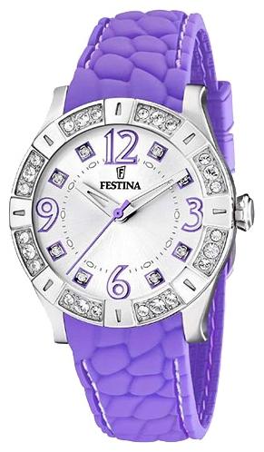 Festina F16541.5 - женские наручные часы из коллекции FashionFestina<br><br><br>Бренд: Festina<br>Модель: Festina F16541/5<br>Артикул: F16541.5<br>Вариант артикула: None<br>Коллекция: Fashion<br>Подколлекция: None<br>Страна: Испания<br>Пол: женские<br>Тип механизма: кварцевые<br>Механизм: M1L36<br>Количество камней: None<br>Автоподзавод: None<br>Источник энергии: от батарейки<br>Срок службы элемента питания: None<br>Дисплей: стрелки<br>Цифры: арабские<br>Водозащита: WR 50<br>Противоударные: None<br>Материал корпуса: нерж. сталь<br>Материал браслета: силикон<br>Материал безеля: None<br>Стекло: минеральное<br>Антибликовое покрытие: None<br>Цвет корпуса: None<br>Цвет браслета: None<br>Цвет циферблата: None<br>Цвет безеля: None<br>Размеры: 38 мм<br>Диаметр: None<br>Диаметр корпуса: None<br>Толщина: None<br>Ширина ремешка: None<br>Вес: None<br>Спорт-функции: None<br>Подсветка: None<br>Вставка: кристаллы Swarovski<br>Отображение даты: None<br>Хронограф: None<br>Таймер: None<br>Термометр: None<br>Хронометр: None<br>GPS: None<br>Радиосинхронизация: None<br>Барометр: None<br>Скелетон: None<br>Дополнительная информация: None<br>Дополнительные функции: None