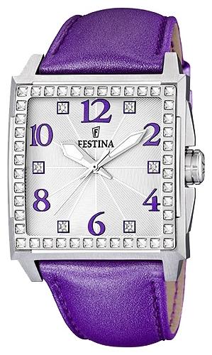 Festina F16571.5 - женские наручные часы из коллекции FashionFestina<br><br><br>Бренд: Festina<br>Модель: Festina F16571/5<br>Артикул: F16571.5<br>Вариант артикула: None<br>Коллекция: Fashion<br>Подколлекция: None<br>Страна: Испания<br>Пол: женские<br>Тип механизма: кварцевые<br>Механизм: None<br>Количество камней: None<br>Автоподзавод: None<br>Источник энергии: от батарейки<br>Срок службы элемента питания: None<br>Дисплей: стрелки<br>Цифры: арабские<br>Водозащита: WR 50<br>Противоударные: None<br>Материал корпуса: нерж. сталь<br>Материал браслета: кожа<br>Материал безеля: None<br>Стекло: минеральное<br>Антибликовое покрытие: None<br>Цвет корпуса: None<br>Цвет браслета: None<br>Цвет циферблата: None<br>Цвет безеля: None<br>Размеры: 40x11 мм<br>Диаметр: None<br>Диаметр корпуса: None<br>Толщина: None<br>Ширина ремешка: None<br>Вес: None<br>Спорт-функции: None<br>Подсветка: стрелок<br>Вставка: кристаллы Swarovski<br>Отображение даты: None<br>Хронограф: None<br>Таймер: None<br>Термометр: None<br>Хронометр: None<br>GPS: None<br>Радиосинхронизация: None<br>Барометр: None<br>Скелетон: None<br>Дополнительная информация: None<br>Дополнительные функции: None