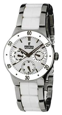 Festina F16530.1 - женские наручные часы из коллекции MultifunctionFestina<br><br><br>Бренд: Festina<br>Модель: Festina F16530/1<br>Артикул: F16530.1<br>Вариант артикула: None<br>Коллекция: Multifunction<br>Подколлекция: None<br>Страна: Испания<br>Пол: женские<br>Тип механизма: кварцевые<br>Механизм: None<br>Количество камней: None<br>Автоподзавод: None<br>Источник энергии: от батарейки<br>Срок службы элемента питания: None<br>Дисплей: стрелки<br>Цифры: отсутствуют<br>Водозащита: WR 50<br>Противоударные: None<br>Материал корпуса: нерж. сталь + керамика<br>Материал браслета: нерж. сталь + керамика<br>Материал безеля: None<br>Стекло: минеральное<br>Антибликовое покрытие: None<br>Цвет корпуса: None<br>Цвет браслета: None<br>Цвет циферблата: None<br>Цвет безеля: None<br>Размеры: 34 мм<br>Диаметр: None<br>Диаметр корпуса: None<br>Толщина: None<br>Ширина ремешка: None<br>Вес: None<br>Спорт-функции: None<br>Подсветка: стрелок<br>Вставка: None<br>Отображение даты: число, день недели<br>Хронограф: None<br>Таймер: None<br>Термометр: None<br>Хронометр: None<br>GPS: None<br>Радиосинхронизация: None<br>Барометр: None<br>Скелетон: None<br>Дополнительная информация: None<br>Дополнительные функции: None