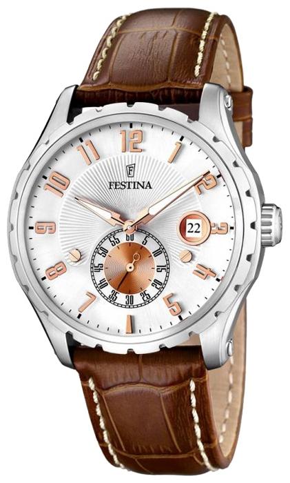 Festina F16486.3 - мужские наручные часы из коллекции ClassicFestina<br><br><br>Бренд: Festina<br>Модель: Festina F16486/3<br>Артикул: F16486.3<br>Вариант артикула: None<br>Коллекция: Classic<br>Подколлекция: None<br>Страна: Испания<br>Пол: мужские<br>Тип механизма: кварцевые<br>Механизм: None<br>Количество камней: None<br>Автоподзавод: None<br>Источник энергии: от батарейки<br>Срок службы элемента питания: None<br>Дисплей: стрелки<br>Цифры: арабские<br>Водозащита: WR 50<br>Противоударные: None<br>Материал корпуса: нерж. сталь<br>Материал браслета: кожа (не указан)<br>Материал безеля: None<br>Стекло: минеральное<br>Антибликовое покрытие: None<br>Цвет корпуса: None<br>Цвет браслета: None<br>Цвет циферблата: None<br>Цвет безеля: None<br>Размеры: 42x42 мм<br>Диаметр: None<br>Диаметр корпуса: None<br>Толщина: None<br>Ширина ремешка: None<br>Вес: None<br>Спорт-функции: None<br>Подсветка: стрелок<br>Вставка: None<br>Отображение даты: число<br>Хронограф: None<br>Таймер: None<br>Термометр: None<br>Хронометр: None<br>GPS: None<br>Радиосинхронизация: None<br>Барометр: None<br>Скелетон: None<br>Дополнительная информация: None<br>Дополнительные функции: None
