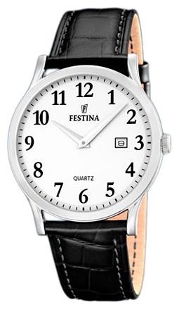 Festina F16520.1 - мужские наручные часы из коллекции ClassicFestina<br><br><br>Бренд: Festina<br>Модель: Festina F16520/1<br>Артикул: F16520.1<br>Вариант артикула: None<br>Коллекция: Classic<br>Подколлекция: None<br>Страна: Испания<br>Пол: мужские<br>Тип механизма: кварцевые<br>Механизм: M9U15<br>Количество камней: None<br>Автоподзавод: None<br>Источник энергии: от батарейки<br>Срок службы элемента питания: None<br>Дисплей: стрелки<br>Цифры: арабские<br>Водозащита: WR 50<br>Противоударные: None<br>Материал корпуса: нерж. сталь<br>Материал браслета: кожа<br>Материал безеля: None<br>Стекло: минеральное<br>Антибликовое покрытие: None<br>Цвет корпуса: None<br>Цвет браслета: None<br>Цвет циферблата: None<br>Цвет безеля: None<br>Размеры: 40 мм<br>Диаметр: None<br>Диаметр корпуса: None<br>Толщина: None<br>Ширина ремешка: None<br>Вес: None<br>Спорт-функции: None<br>Подсветка: стрелок<br>Вставка: None<br>Отображение даты: число<br>Хронограф: None<br>Таймер: None<br>Термометр: None<br>Хронометр: None<br>GPS: None<br>Радиосинхронизация: None<br>Барометр: None<br>Скелетон: None<br>Дополнительная информация: None<br>Дополнительные функции: None