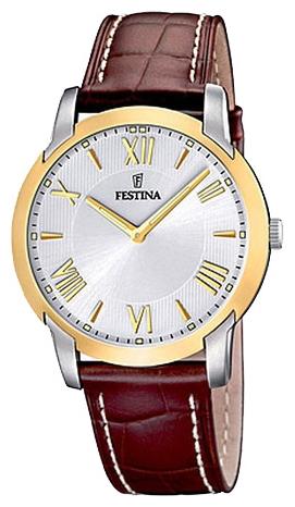 Festina F16508.5 - мужские наручные часы из коллекции ClassicFestina<br><br><br>Бренд: Festina<br>Модель: Festina F16508/5<br>Артикул: F16508.5<br>Вариант артикула: None<br>Коллекция: Classic<br>Подколлекция: None<br>Страна: Испания<br>Пол: мужские<br>Тип механизма: кварцевые<br>Механизм: M1L22<br>Количество камней: None<br>Автоподзавод: None<br>Источник энергии: от батарейки<br>Срок службы элемента питания: None<br>Дисплей: стрелки<br>Цифры: римские<br>Водозащита: WR 50<br>Противоударные: None<br>Материал корпуса: нерж. сталь, частичное покрытие корпуса<br>Материал браслета: кожа (не указан)<br>Материал безеля: None<br>Стекло: минеральное<br>Антибликовое покрытие: None<br>Цвет корпуса: None<br>Цвет браслета: None<br>Цвет циферблата: None<br>Цвет безеля: None<br>Размеры: 40.5x40.5 мм<br>Диаметр: None<br>Диаметр корпуса: None<br>Толщина: None<br>Ширина ремешка: None<br>Вес: None<br>Спорт-функции: None<br>Подсветка: стрелок<br>Вставка: None<br>Отображение даты: None<br>Хронограф: None<br>Таймер: None<br>Термометр: None<br>Хронометр: None<br>GPS: None<br>Радиосинхронизация: None<br>Барометр: None<br>Скелетон: None<br>Дополнительная информация: None<br>Дополнительные функции: None
