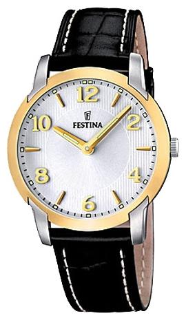 Festina F16508.2 - мужские наручные часы из коллекции ClassicFestina<br><br><br>Бренд: Festina<br>Модель: Festina F16508/2<br>Артикул: F16508.2<br>Вариант артикула: None<br>Коллекция: Classic<br>Подколлекция: None<br>Страна: Испания<br>Пол: мужские<br>Тип механизма: кварцевые<br>Механизм: M1L22<br>Количество камней: None<br>Автоподзавод: None<br>Источник энергии: от батарейки<br>Срок службы элемента питания: None<br>Дисплей: стрелки<br>Цифры: арабские<br>Водозащита: WR 50<br>Противоударные: None<br>Материал корпуса: нерж. сталь, частичное покрытие корпуса<br>Материал браслета: кожа (не указан)<br>Материал безеля: None<br>Стекло: минеральное<br>Антибликовое покрытие: None<br>Цвет корпуса: None<br>Цвет браслета: None<br>Цвет циферблата: None<br>Цвет безеля: None<br>Размеры: 40.5x40.5 мм<br>Диаметр: None<br>Диаметр корпуса: None<br>Толщина: None<br>Ширина ремешка: None<br>Вес: None<br>Спорт-функции: None<br>Подсветка: стрелок<br>Вставка: None<br>Отображение даты: None<br>Хронограф: None<br>Таймер: None<br>Термометр: None<br>Хронометр: None<br>GPS: None<br>Радиосинхронизация: None<br>Барометр: None<br>Скелетон: None<br>Дополнительная информация: None<br>Дополнительные функции: None