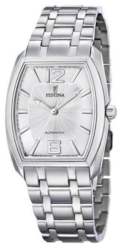 Festina F6756.A - мужские наручные часы из коллекции AutomaticFestina<br><br><br>Бренд: Festina<br>Модель: Festina F6756/A<br>Артикул: F6756.A<br>Вариант артикула: None<br>Коллекция: Automatic<br>Подколлекция: None<br>Страна: Испания<br>Пол: мужские<br>Тип механизма: механические<br>Механизм: None<br>Количество камней: None<br>Автоподзавод: None<br>Источник энергии: пружинный механизм<br>Срок службы элемента питания: None<br>Дисплей: стрелки<br>Цифры: арабские<br>Водозащита: WR 30<br>Противоударные: None<br>Материал корпуса: нерж. сталь<br>Материал браслета: не указан<br>Материал безеля: None<br>Стекло: минеральное<br>Антибликовое покрытие: None<br>Цвет корпуса: None<br>Цвет браслета: None<br>Цвет циферблата: None<br>Цвет безеля: None<br>Размеры: 36x11 мм<br>Диаметр: None<br>Диаметр корпуса: None<br>Толщина: None<br>Ширина ремешка: None<br>Вес: None<br>Спорт-функции: None<br>Подсветка: None<br>Вставка: None<br>Отображение даты: None<br>Хронограф: None<br>Таймер: None<br>Термометр: None<br>Хронометр: None<br>GPS: None<br>Радиосинхронизация: None<br>Барометр: None<br>Скелетон: None<br>Дополнительная информация: None<br>Дополнительные функции: None