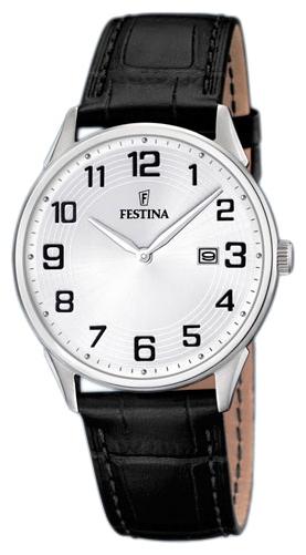 Festina F16518.1 - мужские наручные часы из коллекции ClassicFestina<br><br><br>Бренд: Festina<br>Модель: Festina F16518/1<br>Артикул: F16518.1<br>Вариант артикула: None<br>Коллекция: Classic<br>Подколлекция: None<br>Страна: Испания<br>Пол: мужские<br>Тип механизма: кварцевые<br>Механизм: None<br>Количество камней: None<br>Автоподзавод: None<br>Источник энергии: от батарейки<br>Срок службы элемента питания: None<br>Дисплей: стрелки<br>Цифры: арабские<br>Водозащита: WR 50<br>Противоударные: None<br>Материал корпуса: нерж. сталь<br>Материал браслета: кожа<br>Материал безеля: None<br>Стекло: минеральное<br>Антибликовое покрытие: None<br>Цвет корпуса: None<br>Цвет браслета: None<br>Цвет циферблата: None<br>Цвет безеля: None<br>Размеры: 39.6x39.6 мм<br>Диаметр: None<br>Диаметр корпуса: None<br>Толщина: None<br>Ширина ремешка: None<br>Вес: None<br>Спорт-функции: None<br>Подсветка: None<br>Вставка: None<br>Отображение даты: число<br>Хронограф: None<br>Таймер: None<br>Термометр: None<br>Хронометр: None<br>GPS: None<br>Радиосинхронизация: None<br>Барометр: None<br>Скелетон: None<br>Дополнительная информация: None<br>Дополнительные функции: None