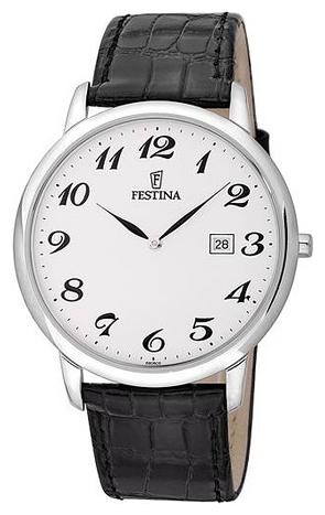 Festina F6806.5 - мужские наручные часы из коллекции ClassicFestina<br><br><br>Бренд: Festina<br>Модель: Festina F6806/5<br>Артикул: F6806.5<br>Вариант артикула: None<br>Коллекция: Classic<br>Подколлекция: None<br>Страна: Испания<br>Пол: мужские<br>Тип механизма: кварцевые<br>Механизм: None<br>Количество камней: None<br>Автоподзавод: None<br>Источник энергии: от батарейки<br>Срок службы элемента питания: None<br>Дисплей: стрелки<br>Цифры: арабские<br>Водозащита: WR 50<br>Противоударные: None<br>Материал корпуса: нерж. сталь<br>Материал браслета: кожа<br>Материал безеля: None<br>Стекло: минеральное<br>Антибликовое покрытие: None<br>Цвет корпуса: None<br>Цвет браслета: None<br>Цвет циферблата: None<br>Цвет безеля: None<br>Размеры: None<br>Диаметр: None<br>Диаметр корпуса: None<br>Толщина: None<br>Ширина ремешка: None<br>Вес: None<br>Спорт-функции: None<br>Подсветка: None<br>Вставка: None<br>Отображение даты: число<br>Хронограф: None<br>Таймер: None<br>Термометр: None<br>Хронометр: None<br>GPS: None<br>Радиосинхронизация: None<br>Барометр: None<br>Скелетон: None<br>Дополнительная информация: None<br>Дополнительные функции: None