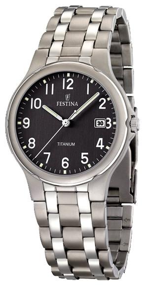 Festina F16460.3 - мужские наручные часы из коллекции ClassicFestina<br><br><br>Бренд: Festina<br>Модель: Festina F16460/3<br>Артикул: F16460.3<br>Вариант артикула: None<br>Коллекция: Classic<br>Подколлекция: None<br>Страна: Испания<br>Пол: мужские<br>Тип механизма: кварцевые<br>Механизм: M1M12<br>Количество камней: None<br>Автоподзавод: None<br>Источник энергии: от батарейки<br>Срок службы элемента питания: None<br>Дисплей: стрелки<br>Цифры: арабские<br>Водозащита: WR 30<br>Противоударные: None<br>Материал корпуса: титан<br>Материал браслета: не указан<br>Материал безеля: None<br>Стекло: минеральное<br>Антибликовое покрытие: None<br>Цвет корпуса: None<br>Цвет браслета: None<br>Цвет циферблата: None<br>Цвет безеля: None<br>Размеры: 37.2x37.2 мм<br>Диаметр: None<br>Диаметр корпуса: None<br>Толщина: None<br>Ширина ремешка: None<br>Вес: None<br>Спорт-функции: None<br>Подсветка: стрелок<br>Вставка: None<br>Отображение даты: число<br>Хронограф: None<br>Таймер: None<br>Термометр: None<br>Хронометр: None<br>GPS: None<br>Радиосинхронизация: None<br>Барометр: None<br>Скелетон: None<br>Дополнительная информация: None<br>Дополнительные функции: None