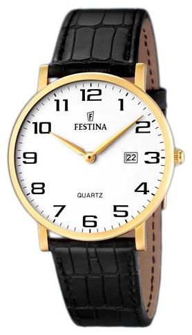 Festina F16478.1 - мужские наручные часы из коллекции ClassicFestina<br><br><br>Бренд: Festina<br>Модель: Festina F16478/1<br>Артикул: F16478.1<br>Вариант артикула: None<br>Коллекция: Classic<br>Подколлекция: None<br>Страна: Испания<br>Пол: мужские<br>Тип механизма: кварцевые<br>Механизм: None<br>Количество камней: None<br>Автоподзавод: None<br>Источник энергии: от батарейки<br>Срок службы элемента питания: None<br>Дисплей: стрелки<br>Цифры: арабские<br>Водозащита: WR 50<br>Противоударные: None<br>Материал корпуса: нерж. сталь, покрытие: позолота<br>Материал браслета: кожа<br>Материал безеля: None<br>Стекло: минеральное<br>Антибликовое покрытие: None<br>Цвет корпуса: None<br>Цвет браслета: None<br>Цвет циферблата: None<br>Цвет безеля: None<br>Размеры: None<br>Диаметр: None<br>Диаметр корпуса: None<br>Толщина: None<br>Ширина ремешка: None<br>Вес: None<br>Спорт-функции: None<br>Подсветка: None<br>Вставка: None<br>Отображение даты: число<br>Хронограф: None<br>Таймер: None<br>Термометр: None<br>Хронометр: None<br>GPS: None<br>Радиосинхронизация: None<br>Барометр: None<br>Скелетон: None<br>Дополнительная информация: None<br>Дополнительные функции: None