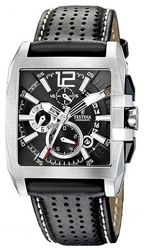 Festina F16363.5 - мужские наручные часы из коллекции ChronographFestina<br><br><br>Бренд: Festina<br>Модель: Festina F16363/5<br>Артикул: F16363.5<br>Вариант артикула: None<br>Коллекция: Chronograph<br>Подколлекция: None<br>Страна: Испания<br>Пол: мужские<br>Тип механизма: кварцевые<br>Механизм: None<br>Количество камней: None<br>Автоподзавод: None<br>Источник энергии: от батарейки<br>Срок службы элемента питания: None<br>Дисплей: стрелки<br>Цифры: арабские<br>Водозащита: WR 50<br>Противоударные: None<br>Материал корпуса: нерж. сталь<br>Материал браслета: кожа<br>Материал безеля: None<br>Стекло: минеральное<br>Антибликовое покрытие: None<br>Цвет корпуса: None<br>Цвет браслета: None<br>Цвет циферблата: None<br>Цвет безеля: None<br>Размеры: 42x50x12 мм<br>Диаметр: None<br>Диаметр корпуса: None<br>Толщина: None<br>Ширина ремешка: None<br>Вес: 93 г<br>Спорт-функции: секундомер<br>Подсветка: стрелок<br>Вставка: None<br>Отображение даты: число<br>Хронограф: есть<br>Таймер: None<br>Термометр: None<br>Хронометр: None<br>GPS: None<br>Радиосинхронизация: None<br>Барометр: None<br>Скелетон: None<br>Дополнительная информация: None<br>Дополнительные функции: None