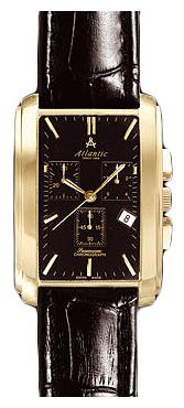 Atlantic 67440.45.61 - мужские наручные часы из коллекции SeamoonAtlantic<br><br><br>Бренд: Atlantic<br>Модель: Atlantic 67440.45.61<br>Артикул: 67440.45.61<br>Вариант артикула: None<br>Коллекция: Seamoon<br>Подколлекция: None<br>Страна: Швейцария<br>Пол: мужские<br>Тип механизма: кварцевые<br>Механизм: None<br>Количество камней: None<br>Автоподзавод: None<br>Источник энергии: от батарейки<br>Срок службы элемента питания: None<br>Дисплей: стрелки<br>Цифры: отсутствуют<br>Водозащита: WR 30<br>Противоударные: None<br>Материал корпуса: нерж. сталь, покрытие: позолота<br>Материал браслета: кожа<br>Материал безеля: None<br>Стекло: сапфировое<br>Антибликовое покрытие: None<br>Цвет корпуса: None<br>Цвет браслета: None<br>Цвет циферблата: None<br>Цвет безеля: None<br>Размеры: None<br>Диаметр: None<br>Диаметр корпуса: None<br>Толщина: None<br>Ширина ремешка: None<br>Вес: None<br>Спорт-функции: секундомер<br>Подсветка: None<br>Вставка: None<br>Отображение даты: число<br>Хронограф: есть<br>Таймер: None<br>Термометр: None<br>Хронометр: None<br>GPS: None<br>Радиосинхронизация: None<br>Барометр: None<br>Скелетон: None<br>Дополнительная информация: позолота 5 мкм<br>Дополнительные функции: None
