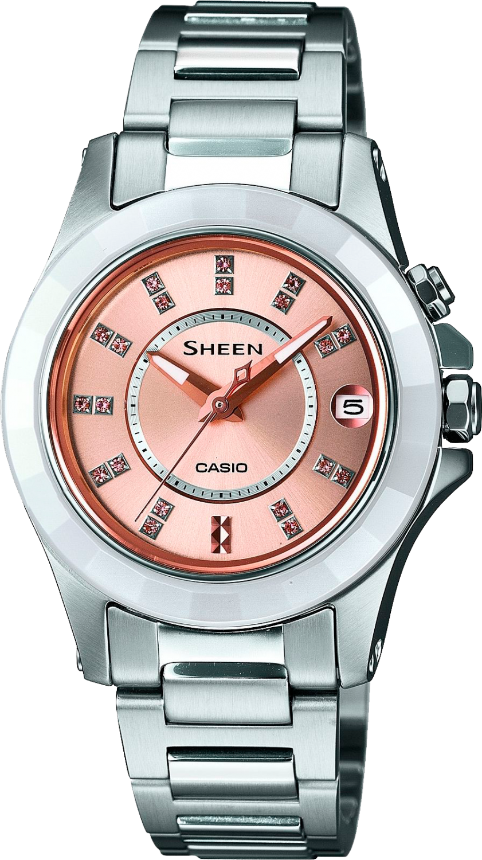 Casio Sheen SHE-4509SG-4A / SHE-4509SG-4AER - женские наручные часыCasio<br><br><br>Бренд: Casio<br>Модель: Casio SHE-4509SG-4A<br>Артикул: SHE-4509SG-4A<br>Вариант артикула: SHE-4509SG-4AER<br>Коллекция: Sheen<br>Подколлекция: None<br>Страна: Япония<br>Пол: женские<br>Тип механизма: кварцевые<br>Механизм: None<br>Количество камней: None<br>Автоподзавод: None<br>Источник энергии: от батарейки<br>Срок службы элемента питания: None<br>Дисплей: стрелки<br>Цифры: отсутствуют<br>Водозащита: None<br>Противоударные: None<br>Материал корпуса: не указан<br>Материал браслета: нерж. сталь<br>Материал безеля: None<br>Стекло: минеральное<br>Антибликовое покрытие: None<br>Цвет корпуса: None<br>Цвет браслета: None<br>Цвет циферблата: None<br>Цвет безеля: None<br>Размеры: 28x34x6.1 мм<br>Диаметр: None<br>Диаметр корпуса: None<br>Толщина: None<br>Ширина ремешка: None<br>Вес: 55 г<br>Спорт-функции: None<br>Подсветка: None<br>Вставка: кристаллы Swarovski<br>Отображение даты: число<br>Хронограф: None<br>Таймер: None<br>Термометр: None<br>Хронометр: None<br>GPS: None<br>Радиосинхронизация: None<br>Барометр: None<br>Скелетон: None<br>Дополнительная информация: None<br>Дополнительные функции: None
