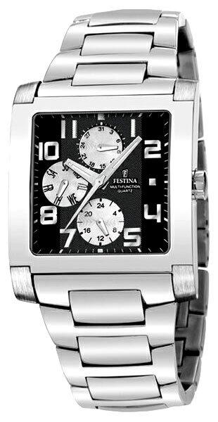 Festina F16234.6 - мужские наручные часы из коллекции MultifunctionFestina<br><br><br>Бренд: Festina<br>Модель: Festina F16234/6<br>Артикул: F16234.6<br>Вариант артикула: None<br>Коллекция: Multifunction<br>Подколлекция: None<br>Страна: Испания<br>Пол: мужские<br>Тип механизма: кварцевые<br>Механизм: None<br>Количество камней: None<br>Автоподзавод: None<br>Источник энергии: None<br>Срок службы элемента питания: None<br>Дисплей: стрелки<br>Цифры: арабские<br>Водозащита: WR 50<br>Противоударные: None<br>Материал корпуса: не указан<br>Материал браслета: не указан<br>Материал безеля: None<br>Стекло: минеральное<br>Антибликовое покрытие: None<br>Цвет корпуса: None<br>Цвет браслета: None<br>Цвет циферблата: None<br>Цвет безеля: None<br>Размеры: 36x46 мм<br>Диаметр: None<br>Диаметр корпуса: None<br>Толщина: None<br>Ширина ремешка: None<br>Вес: None<br>Спорт-функции: None<br>Подсветка: дисплея<br>Вставка: None<br>Отображение даты: день недели<br>Хронограф: None<br>Таймер: None<br>Термометр: None<br>Хронометр: None<br>GPS: None<br>Радиосинхронизация: None<br>Барометр: None<br>Скелетон: None<br>Дополнительная информация: None<br>Дополнительные функции: None