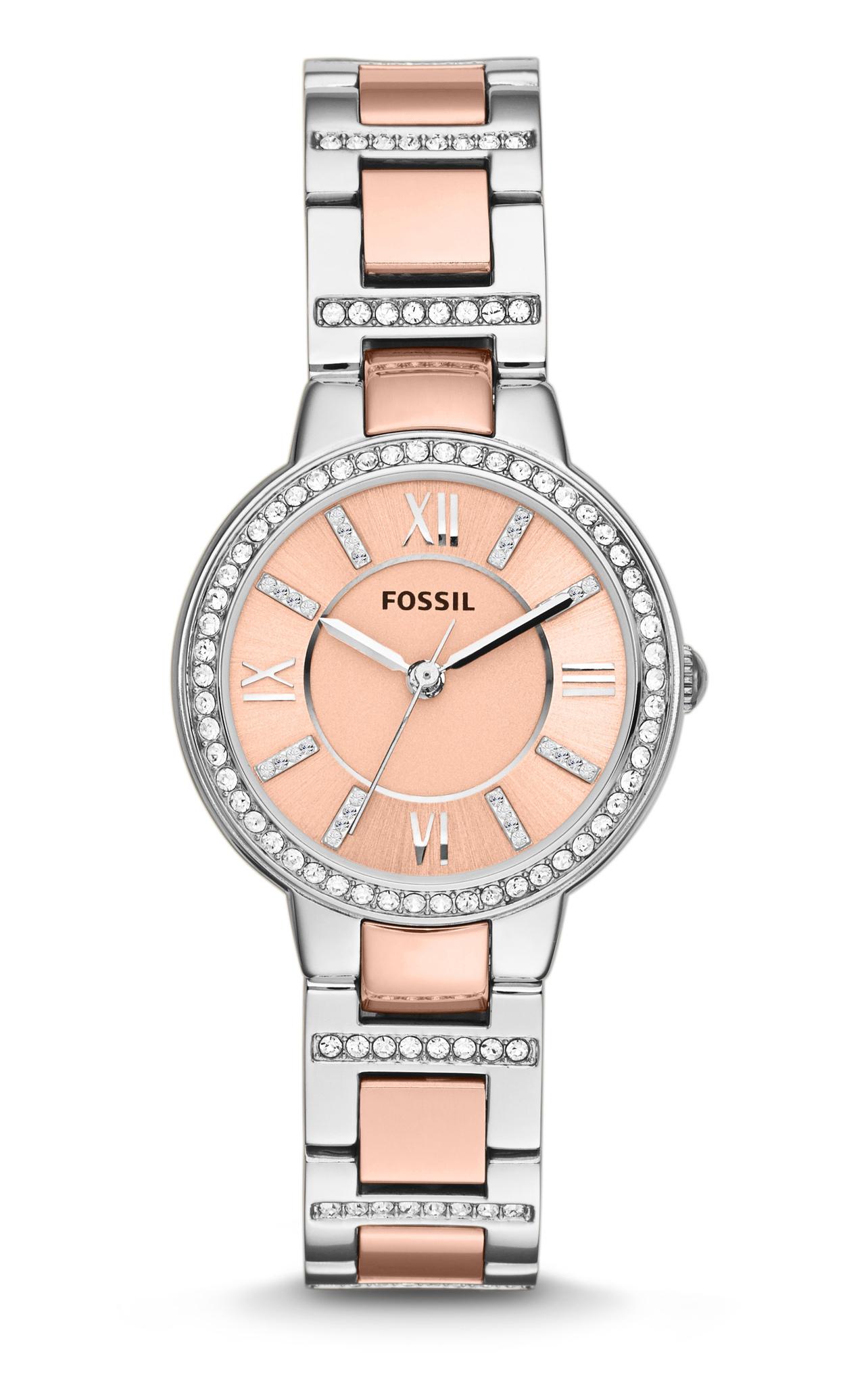 Fossil ES3405 - женские наручные часы из коллекции VirginiaFossil<br><br><br>Бренд: Fossil<br>Модель: Fossil ES3405<br>Артикул: ES3405<br>Вариант артикула: None<br>Коллекция: Virginia<br>Подколлекция: None<br>Страна: США<br>Пол: женские<br>Тип механизма: кварцевые<br>Механизм: None<br>Количество камней: None<br>Автоподзавод: None<br>Источник энергии: от батарейки<br>Срок службы элемента питания: None<br>Дисплей: стрелки<br>Цифры: римские<br>Водозащита: WR 50<br>Противоударные: None<br>Материал корпуса: нерж. сталь<br>Материал браслета: нерж. сталь, PVD покрытие (частичное): позолота<br>Материал безеля: None<br>Стекло: минеральное<br>Антибликовое покрытие: None<br>Цвет корпуса: None<br>Цвет браслета: None<br>Цвет циферблата: None<br>Цвет безеля: None<br>Размеры: 30x9 мм<br>Диаметр: None<br>Диаметр корпуса: None<br>Толщина: None<br>Ширина ремешка: None<br>Вес: None<br>Спорт-функции: None<br>Подсветка: None<br>Вставка: None<br>Отображение даты: None<br>Хронограф: None<br>Таймер: None<br>Термометр: None<br>Хронометр: None<br>GPS: None<br>Радиосинхронизация: None<br>Барометр: None<br>Скелетон: None<br>Дополнительная информация: None<br>Дополнительные функции: None