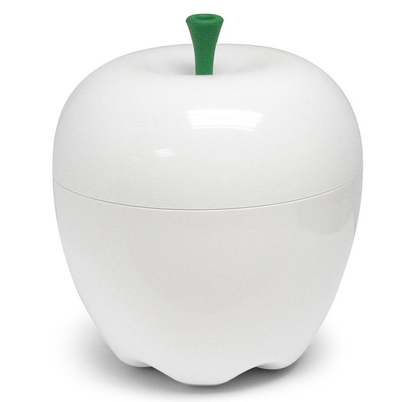 Контейнер Happle мини белый QL10034-WHКонтейнеры для хранения<br>Qualy– яркие, дизайнерские решения на каждый день! <br>Мини версия большого яблока может пригодиться на кухне для хранения фруктов, в ванне для хранения косметики и любых мелочей, в гостиной для снека, а также придаст любому помещению особое вкусное, яблочное настроение!Упаковано вEcofriendly упаковку.<br>