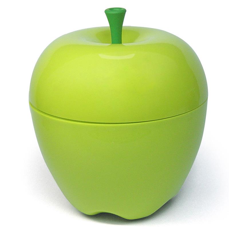 Контейнер Happle мини зеленый QL10034-GNКонтейнеры для хранения<br>Qualy– яркие, дизайнерские решения на каждый день! <br>Мини версия большого яблока может пригодиться на кухне для хранения фруктов, в ванне для хранения косметики и любых мелочей, в гостиной для снека, а также придаст любому помещению особое вкусное, яблочное настроение!Упаковано в Ecofriendly упаковку.<br>