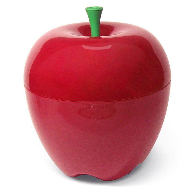 Контейнер Happle мини красный QL10034-RDКонтейнеры для хранения<br>Qualy– яркие, дизайнерские решения на каждый день!<br>Мини версия большого яблока может пригодиться на кухне для хранения фруктов, в ванне для хранения косметики и любых мелочей, в гостиной для снека, а также придаст любому помещению особое вкусное, яблочное настроение!Упаковано в Ecofriendly упаковку.<br>