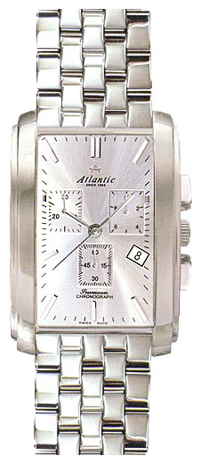 Atlantic 67445.41.21 - мужские наручные часы из коллекции SeamoonAtlantic<br><br><br>Бренд: Atlantic<br>Модель: Atlantic 67445.41.21<br>Артикул: 67445.41.21<br>Вариант артикула: None<br>Коллекция: Seamoon<br>Подколлекция: None<br>Страна: Швейцария<br>Пол: мужские<br>Тип механизма: кварцевые<br>Механизм: ETA 251.471<br>Количество камней: None<br>Автоподзавод: None<br>Источник энергии: от батарейки<br>Срок службы элемента питания: None<br>Дисплей: стрелки<br>Цифры: отсутствуют<br>Водозащита: WR 30<br>Противоударные: None<br>Материал корпуса: нерж. сталь<br>Материал браслета: не указан<br>Материал безеля: None<br>Стекло: сапфировое<br>Антибликовое покрытие: None<br>Цвет корпуса: None<br>Цвет браслета: None<br>Цвет циферблата: None<br>Цвет безеля: None<br>Размеры: None<br>Диаметр: None<br>Диаметр корпуса: None<br>Толщина: None<br>Ширина ремешка: None<br>Вес: None<br>Спорт-функции: секундомер<br>Подсветка: None<br>Вставка: None<br>Отображение даты: число<br>Хронограф: есть<br>Таймер: None<br>Термометр: None<br>Хронометр: None<br>GPS: None<br>Радиосинхронизация: None<br>Барометр: None<br>Скелетон: None<br>Дополнительная информация: None<br>Дополнительные функции: None