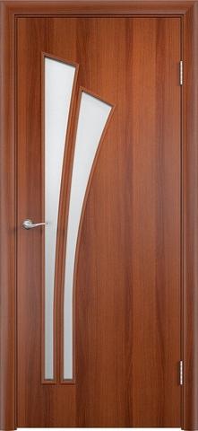 Дверь Верда C-7, цвет итальянский орех, остекленная