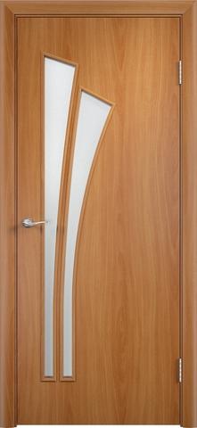 Дверь Верда C-7, цвет миланский орех, остекленная
