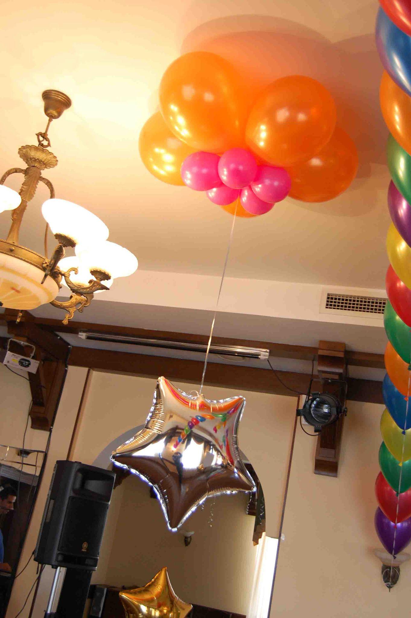 Как сделать шары на потолок