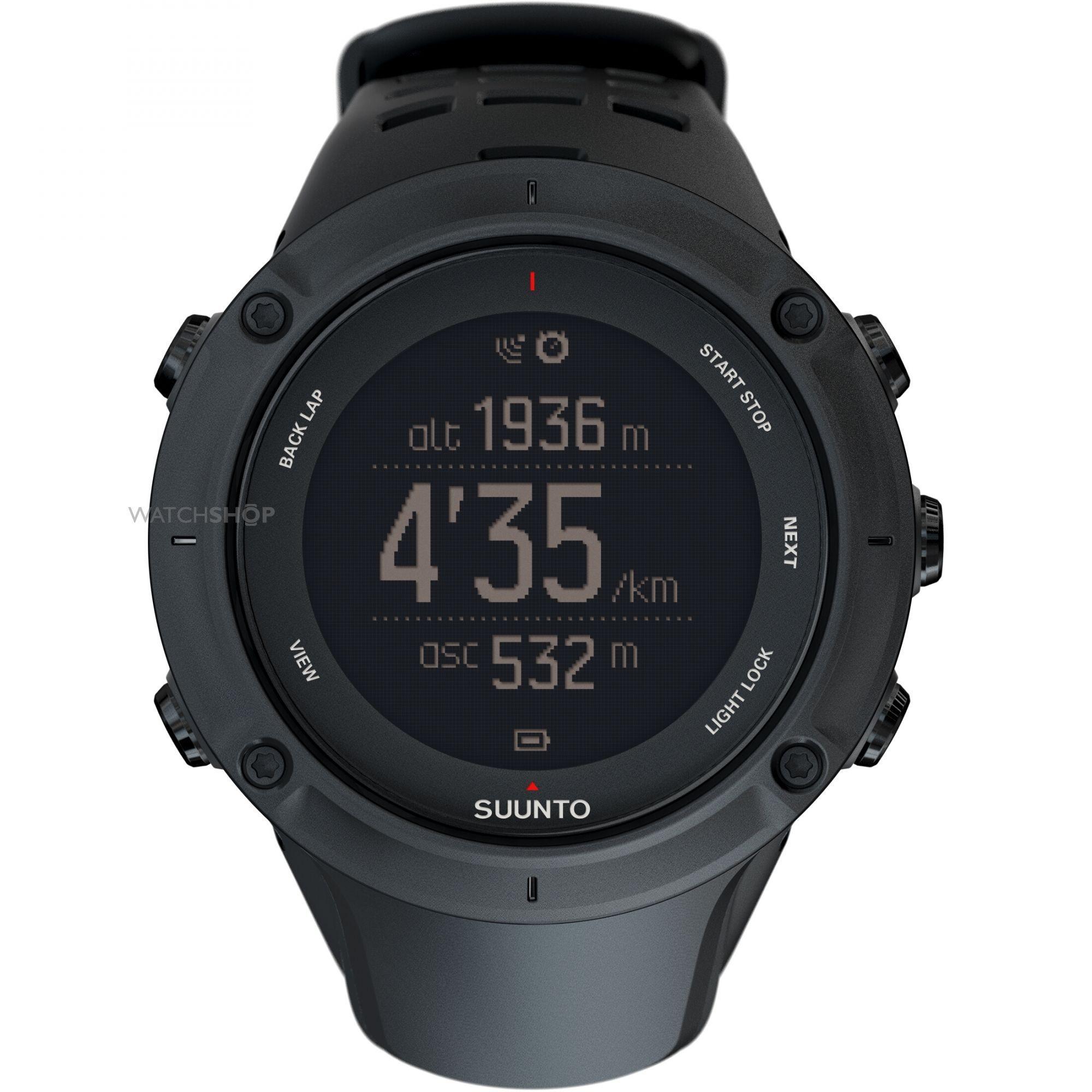 Suunto SS020677000 - мужские наручные часы из коллекции Ambit3Suunto<br>Часы для спорта и активного отдыха. GPS-навигатор, Bluetooth-связь со смартфоном и туристические датчики в одном наручном приборе. Навигация по маршруту, цифровой компас с установкой магнитного склонения, альтиметр, барометр, штормовое предупреждение, информация о приливах, время восхода/заката солнца (по карте часовых поясов на июнь 2014), термометр, прокладка маршрута, измерение скорости, темпа и пройденного расстояния, питание от велосипедного генератора. С помощью приложения Suunto Movescount и смартфона можно мгновенно передавать и публиковать ваши результаты, настраивать часы на ходу, подключать телефон в качестве второго экрана, просматривать вызовы, сообщения и push-уведомления на часах. Актуализация сведений о точном времени и данных со спутников GPS на ходу. Также вы сможете делать во время тренировки заметки, на которых будет отображаться текущая скорость, расстояние и другие сведения, , а также мгновенно делится своими спортивными успехами в социальных сетях. Время работы аккумуляторной батареи в режиме текущего времени 30 дней, со включенным GPS до 50 часов. Индикатор заряда батареи. Переключаемый циферблат (черные цифры на светлом фоне или наоборот). Светодиодная настраиваемая подсветка. Будильник, таймер, секундомер, автоматический календарь, время второго часового пояса. Диаметр корпуса 50мм., толщина 18 мм. Вес 89 гр.<br><br>Бренд: Suunto<br>Модель: Suunto Ambit3 Peak Black<br>Артикул: SS020677000<br>Вариант артикула: None<br>Коллекция: Ambit3<br>Подколлекция: None<br>Страна: Финляндия<br>Пол: мужские<br>Тип механизма: кварцевые<br>Механизм: None<br>Количество камней: None<br>Автоподзавод: None<br>Источник энергии: None<br>Срок службы элемента питания: None<br>Дисплей: цифры<br>Цифры: None<br>Водозащита: WR 100<br>Противоударные: None<br>Материал корпуса: пластик<br>Материал браслета: None<br>Материал безеля: None<br>Стекло: минеральное<br>Антибликовое покрытие: None<br>Цвет кор
