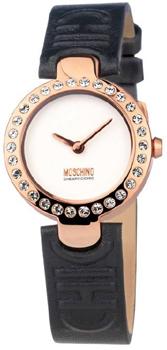 Moschino MW0353 - женские наручные часы из коллекции LadiesMoschino<br>Корпус изготовлен из нержавеющей стали, украшен кристаллами. Кожаный ремешок. Диаметр 30 мм.<br><br>Бренд: Moschino<br>Модель: Moschino MW0353<br>Артикул: MW0353<br>Вариант артикула: None<br>Коллекция: Ladies<br>Подколлекция: None<br>Страна: Италия<br>Пол: женские<br>Тип механизма: кварцевые<br>Механизм: None<br>Количество камней: None<br>Автоподзавод: None<br>Источник энергии: от батарейки<br>Срок службы элемента питания: None<br>Дисплей: стрелки<br>Цифры: отсутствуют<br>Водозащита: WR 50<br>Противоударные: None<br>Материал корпуса: нерж. сталь, PVD покрытие: позолота (полное)<br>Материал браслета: кожа<br>Материал безеля: None<br>Стекло: минеральное<br>Антибликовое покрытие: None<br>Цвет корпуса: None<br>Цвет браслета: None<br>Цвет циферблата: None<br>Цвет безеля: None<br>Размеры: 30 мм<br>Диаметр: None<br>Диаметр корпуса: None<br>Толщина: None<br>Ширина ремешка: None<br>Вес: None<br>Спорт-функции: None<br>Подсветка: None<br>Вставка: None<br>Отображение даты: None<br>Хронограф: None<br>Таймер: None<br>Термометр: None<br>Хронометр: None<br>GPS: None<br>Радиосинхронизация: None<br>Барометр: None<br>Скелетон: None<br>Дополнительная информация: None<br>Дополнительные функции: None